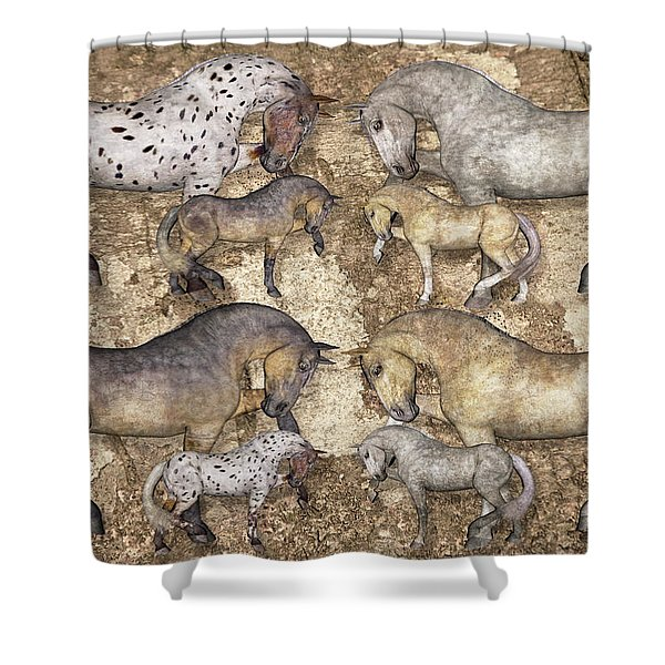 The Horse Collection Shower Curtain