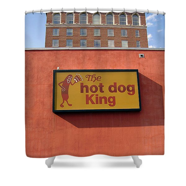 The Hot Dog King Shower Curtain