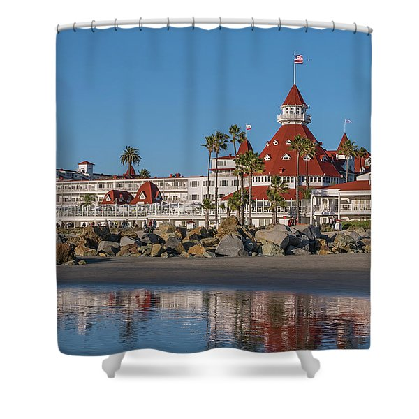 The Hotel Del Coronado Shower Curtain