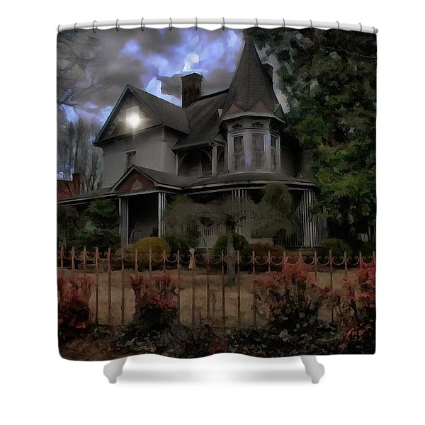 The House On Halloo Hill Shower Curtain