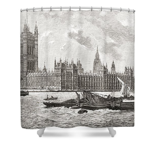 The Houses Of Parliament, City Shower Curtain