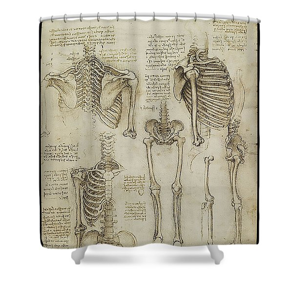 The Human Ribcage Shower Curtain