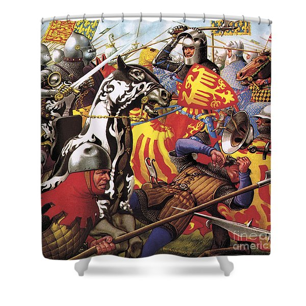 The Hundred Years War  The Struggle For A Crown Shower Curtain