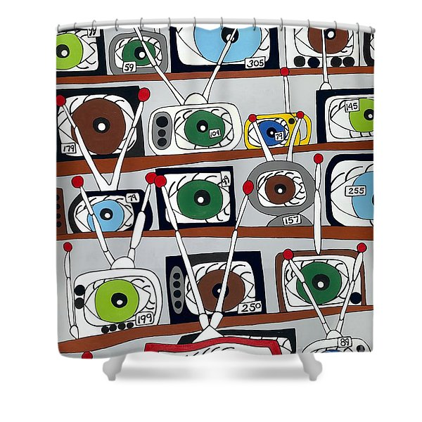 The Hungry Eye Shower Curtain