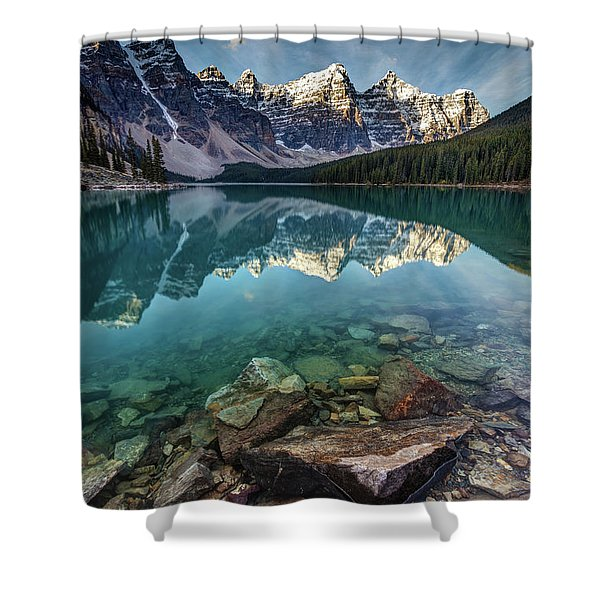The Iconic Moraine Lake Shower Curtain