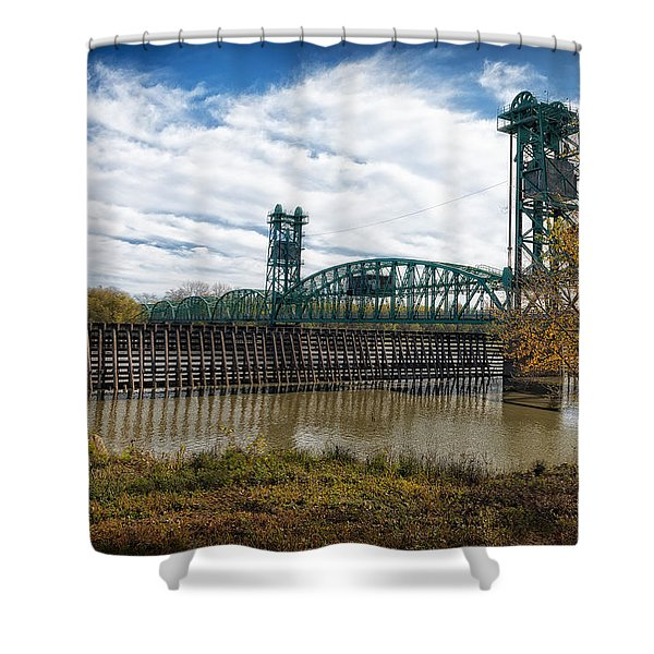 The Illinois River Shower Curtain