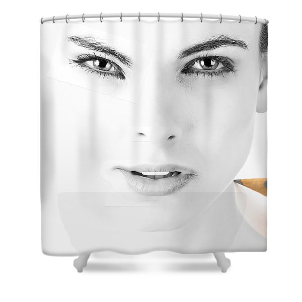 The Illusion Of Perfection Shower Curtain