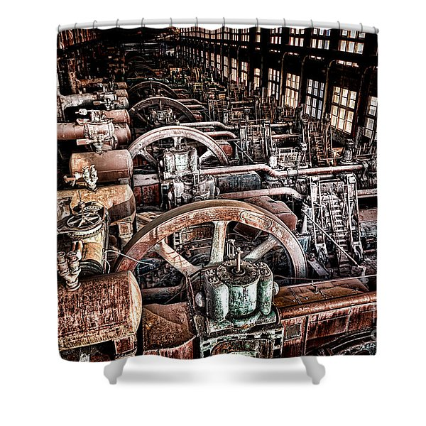 The Industrial Age Shower Curtain