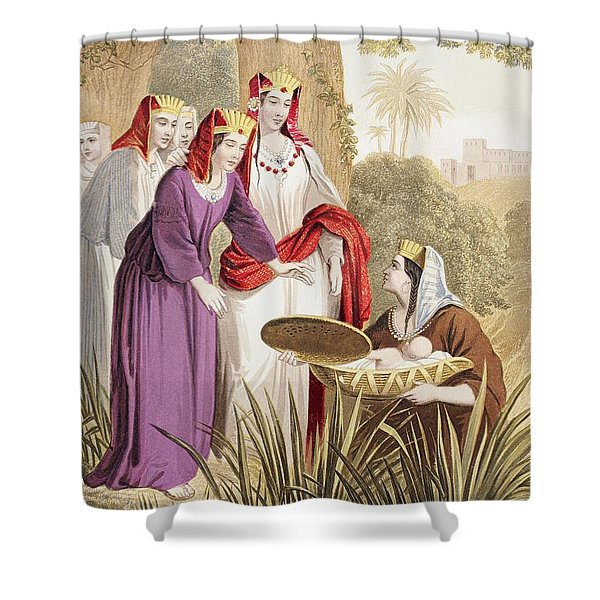 The Infant Moses Is Found In The Shower Curtain