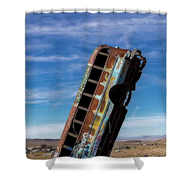 The International Car Forest Of The Last Church 2 Shower Curtain