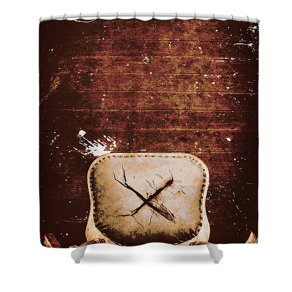 The Interrogation Room Shower Curtain