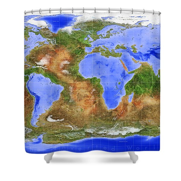 The Inverted World Shower Curtain