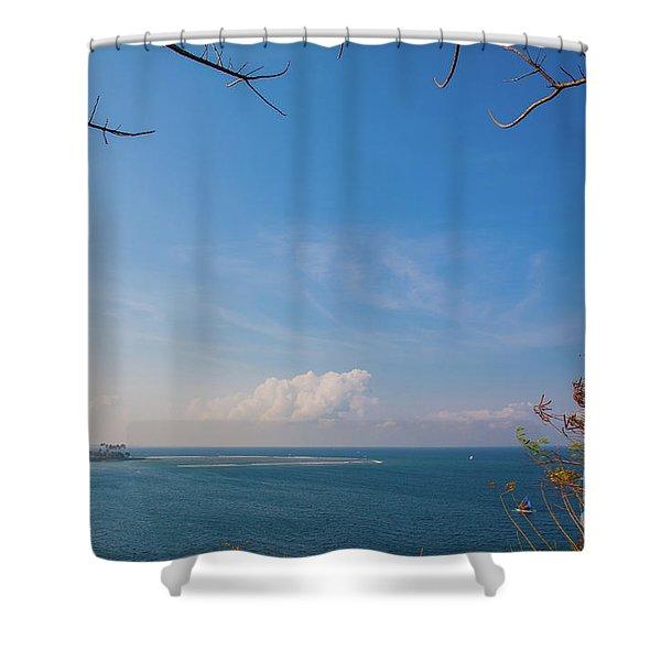The Island Of God #5 Shower Curtain