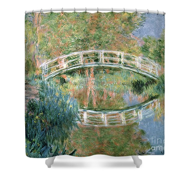 The Japanese Bridge Shower Curtain