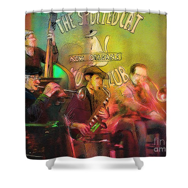The Jazz Vipers In New Orleans 02 Shower Curtain