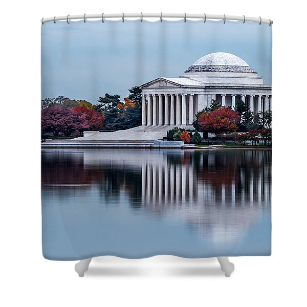 The Jefferson In Baby Blue Shower Curtain