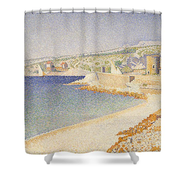 The Jetty At Cassis Shower Curtain