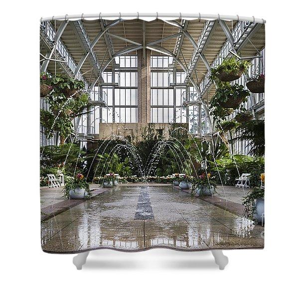 The Jewel Box Fountain Shower Curtain