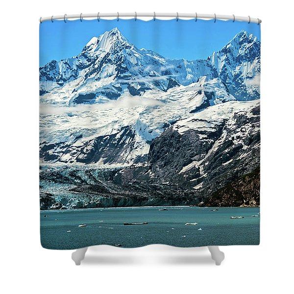 The John Hopkins Glacier Shower Curtain