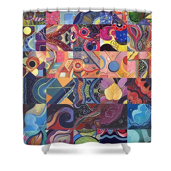 The Joy Of Design First 40 Variation 1 Shower Curtain