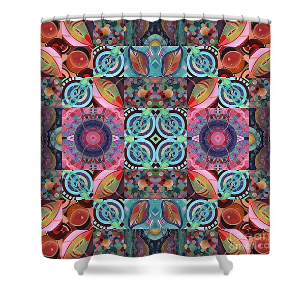 The Joy Of Design Mandala Series Puzzle 7 Arrangement 1 Shower Curtain