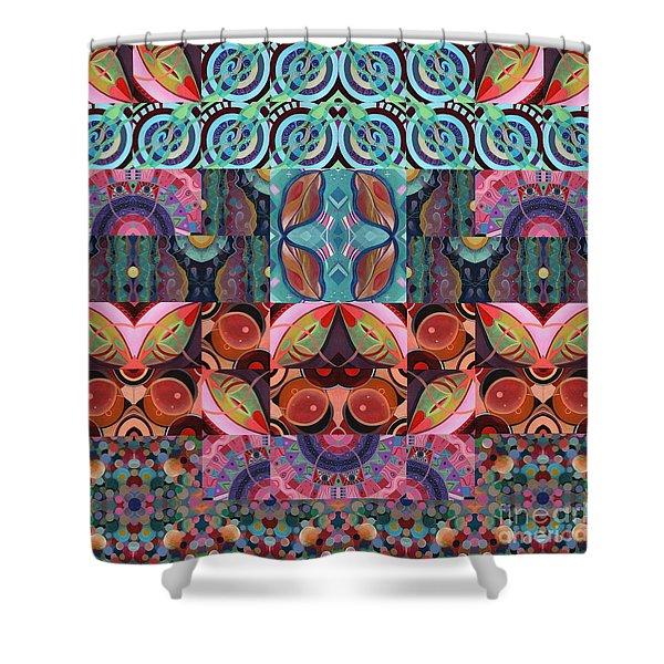 The Joy Of Design Mandala Series Puzzle 7 Arrangement 3 Shower Curtain