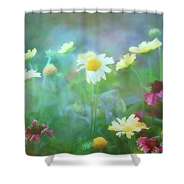 The Joy Of Summer Flowers Shower Curtain