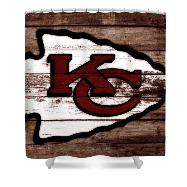 The Kansas City Chiefs 3b Shower Curtain