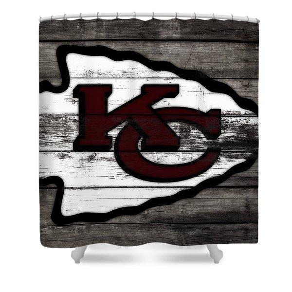 The Kansas City Chiefs 3f   Shower Curtain