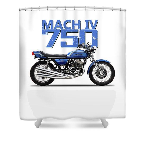 The Kawasaki H2 1975 Shower Curtain