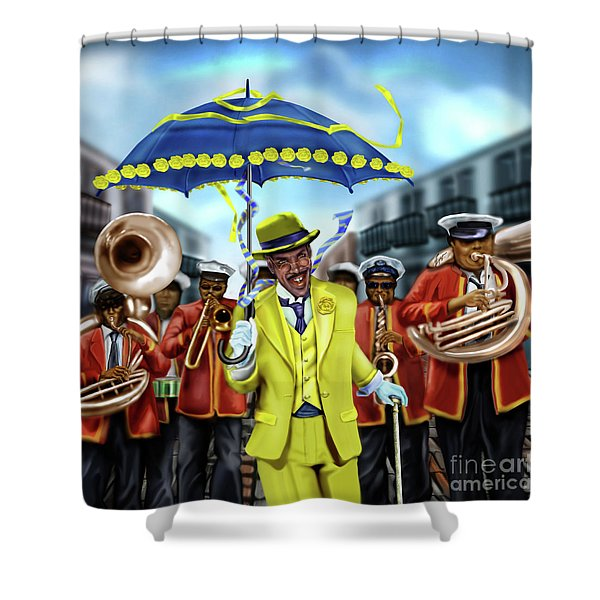 The Kingman  Shower Curtain