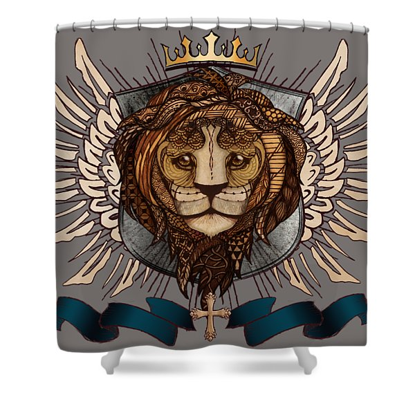 The King's Heraldry II Shower Curtain