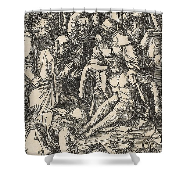 The Lamentation, From The Small Passion Shower Curtain