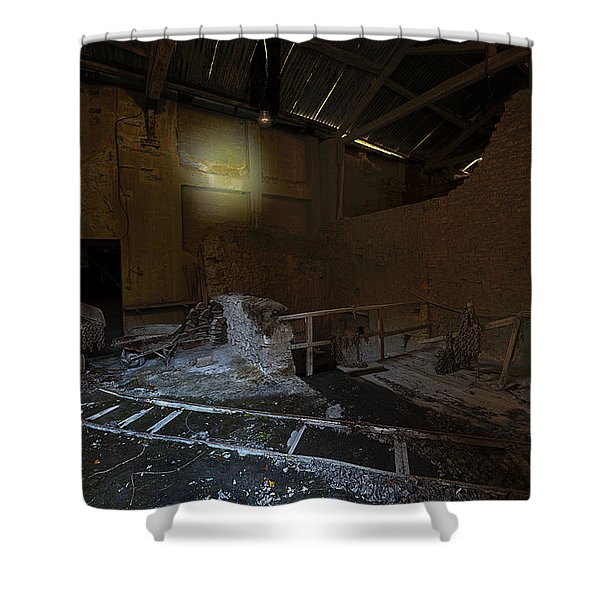 The Lamp Of The Abandoned Furnace Quarry  Shower Curtain