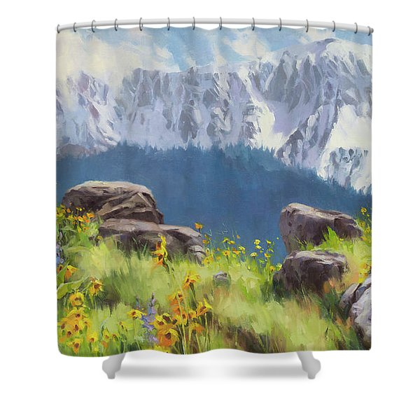 The Land Of Chief Joseph Shower Curtain