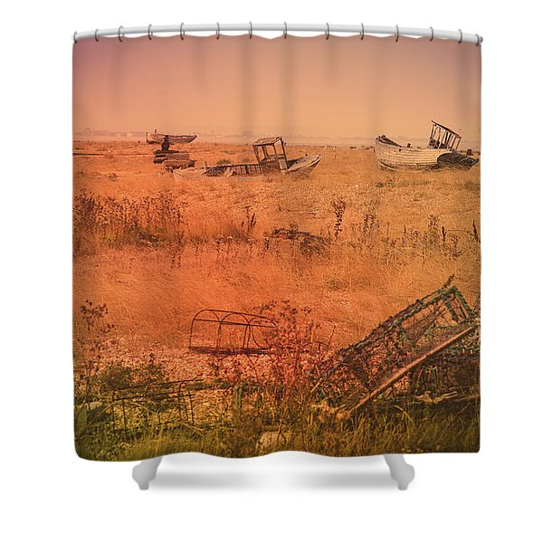 The Landscape Of Dungeness Beach, England 2 Shower Curtain
