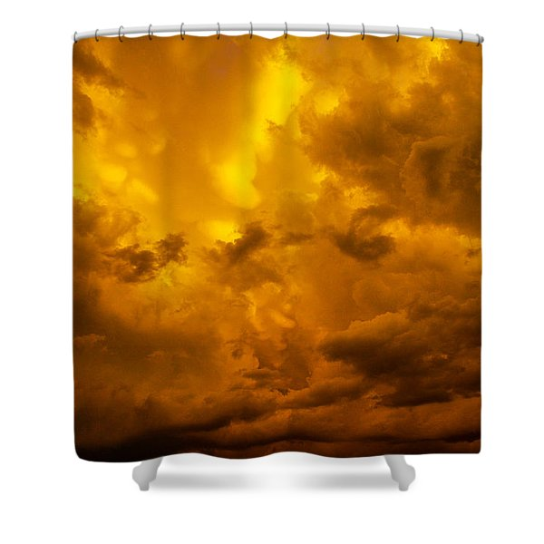 Shower Curtain featuring the photograph The Last Glow Of The Day 008 by NebraskaSC