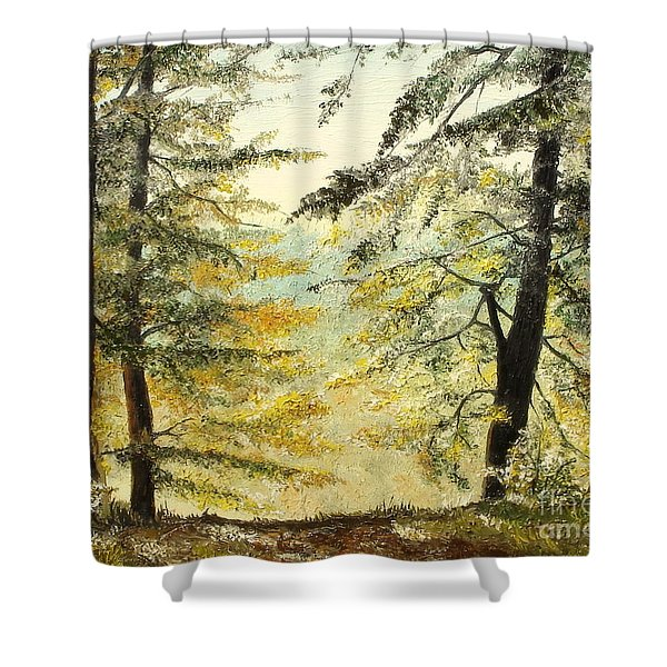 The Last Hill Shower Curtain