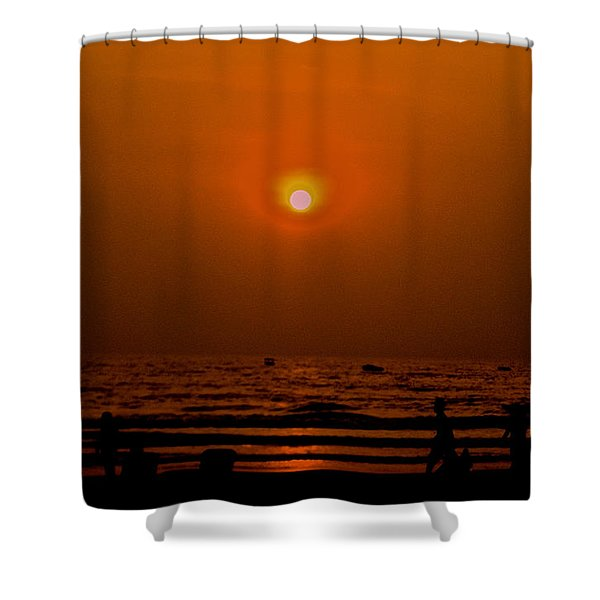 The Last Rays Shower Curtain