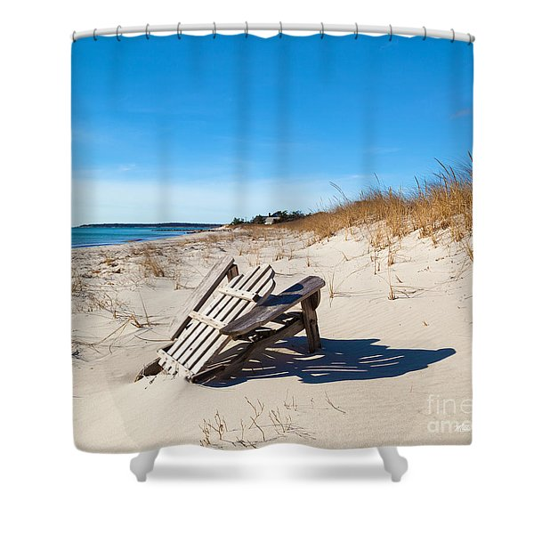The Last Summer Shower Curtain