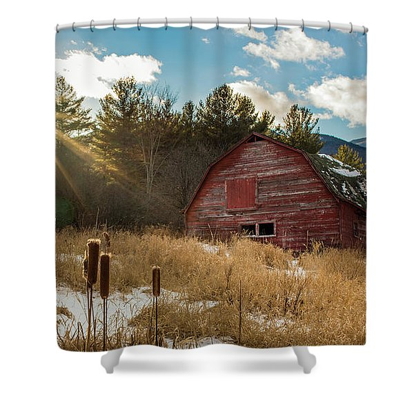 The Last Winter Shower Curtain