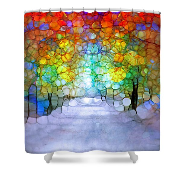 The Laughing Forest Shower Curtain