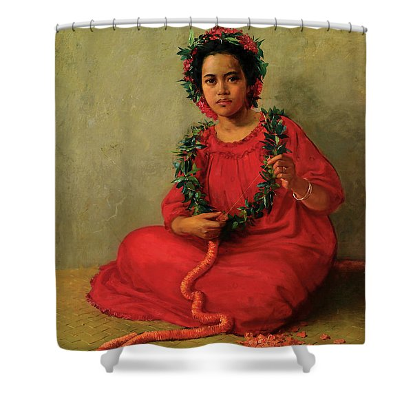 The Lei Maker Shower Curtain
