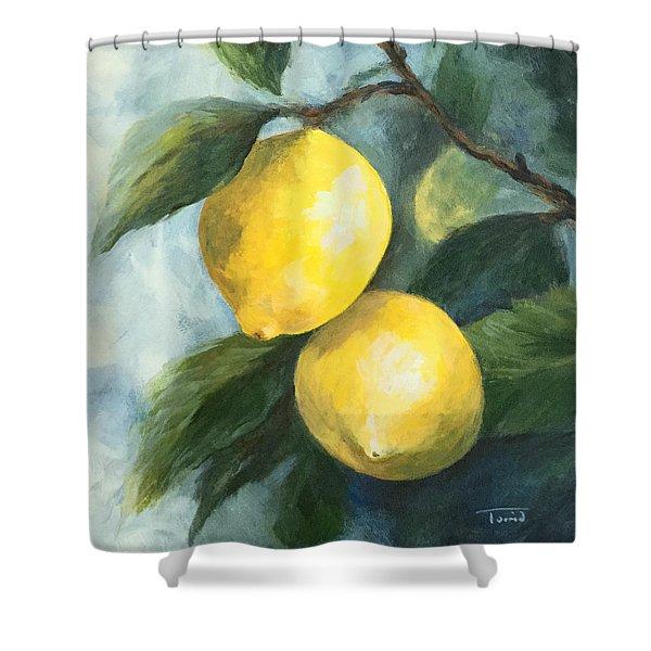 The Lemon Tree Shower Curtain
