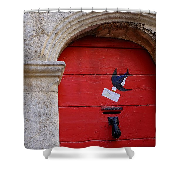The Letterbox Shower Curtain