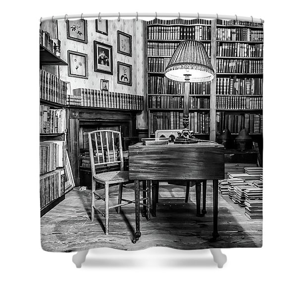 Shower Curtain featuring the photograph The Library by Nick Bywater