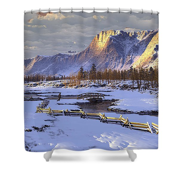 The Life Of Snow Shower Curtain
