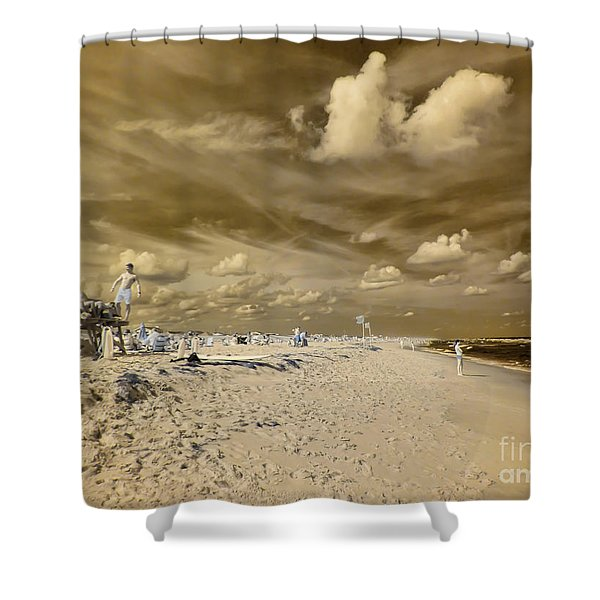 The Lifeguard Stand Shower Curtain
