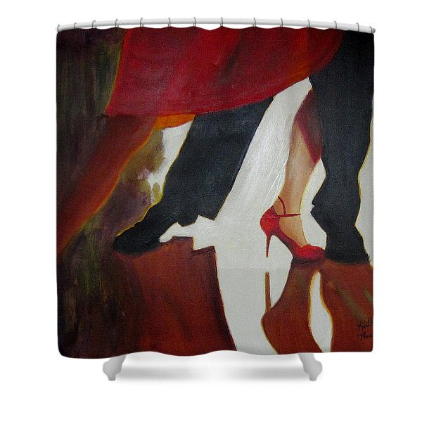 Shower Curtain featuring the painting The Light Fandango by Keith Thue