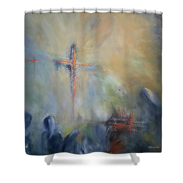 The Light Of Christ Shower Curtain